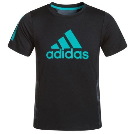 adidas Smoke Screen Training T-Shirt - Short Sleeve (For Toddlers) in Caviar Black