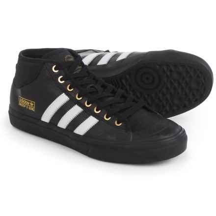 adidas Snoop X Gonz Matchcourt Mid Shoes - Leather (For Men) in Black/White - Closeouts