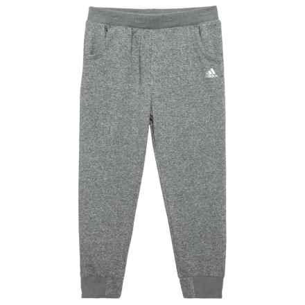adidas Sparkle Relay Joggers - 7/8 Length (For Big Girls) in Dark Grey - Closeouts