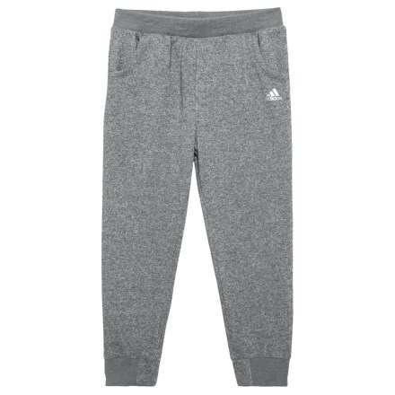 ea1d4fabb8a55b adidas Sparkle Relay Joggers - (For Big Girls) in Dark Grey - Closeouts