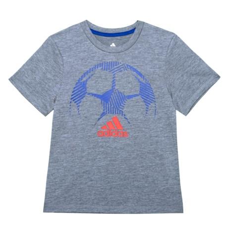adidas Sport Silhouette T-Shirt - Short Sleeve (For Little Boys) in Medium Grey