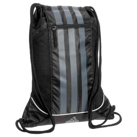 adidas Striped II Sackpack in Black/Onix/White - Closeouts
