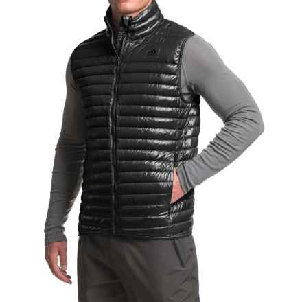 adidas Super Light Down Vest - 600 Fill Power (For Men) in Black - Closeouts