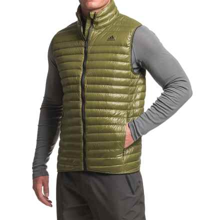 adidas Super Light Down Vest - 600 Fill Power (For Men) in Olive Cargo - Closeouts