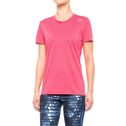 adidas Supernova Shirt - Short Sleeve (For Women) in Super Pink - Closeouts