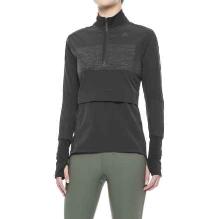 adidas Supernova Storm Shirt - Zip Neck, Long Sleeve (For Women) in Black - Closeouts