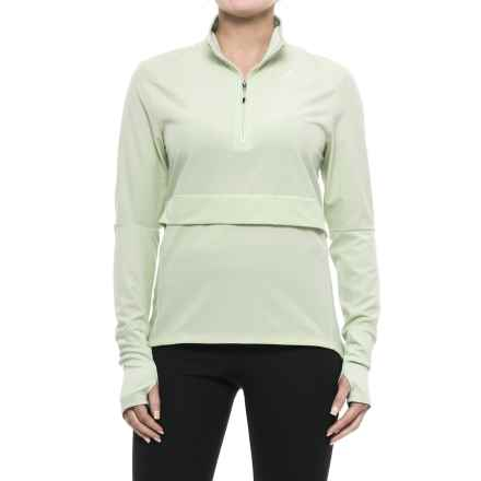 adidas Supernova Storm Shirt - Zip Neck, Long Sleeve (For Women) in Linen Green - Closeouts