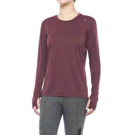 adidas Supernova T-Shirt - Long Sleeve (For Women) in Maroon - Closeouts