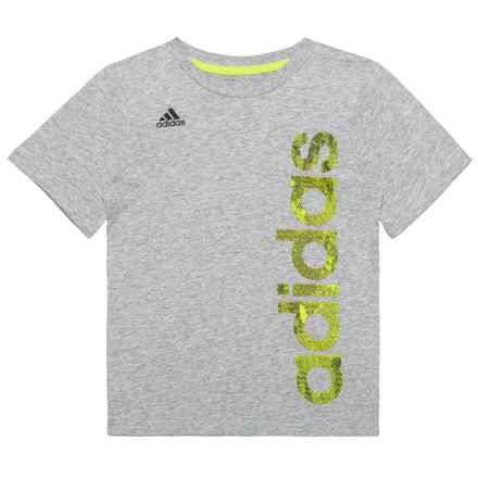 adidas Supreme Speed Linear T-Shirt - Short Sleeve (For Little Boys) in Grey - Closeouts