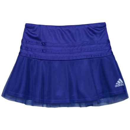 adidas Sweeper Skorts (For Toddler Girls) in Dark Purple - Closeouts