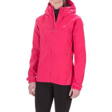 adidas Swift Soft Shell Hooded Jacket (For Women) in Vivid Berry - Closeouts