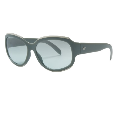 Adidas Taipai Sunglasses in Grey/Aqua Silver Gradient