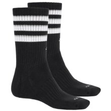 adidas Team Crew Socks - 2-Pack (For Men) in Black/White/Light Onix - Closeouts