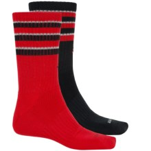 adidas Team Crew Socks - 2-Pack (For Men) in Scarlet/Black/Light Onix - Closeouts