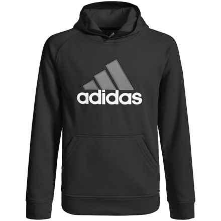 adidas Tech Fleece Hoodie (For Big Boys) in Black/Granite - Closeouts
