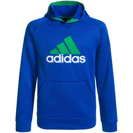 adidas Tech Fleece Pullover Hoodie (For Big Boys) in Collegiate Royal/Green - Closeouts