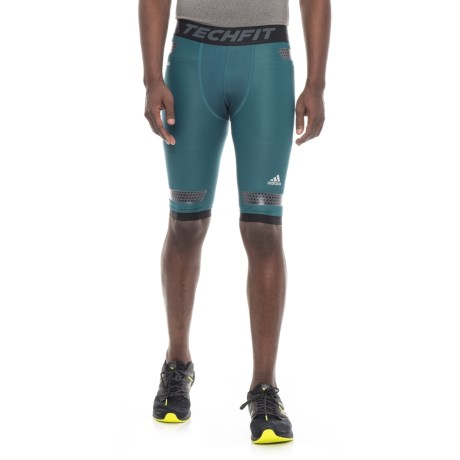 adidas Techfit Power Compression Shorts (For Men) in Petrol Night