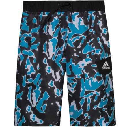 894725b870 adidas Terra Volley Swim Trunks - Black (For Big Boys) in Black - Closeouts