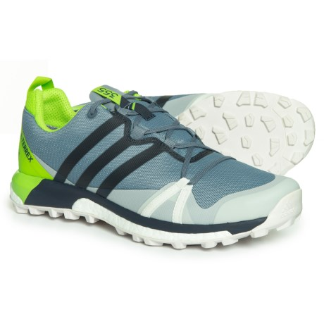 adidas Terrex Agravic Gore-Tex® Trail Running Shoes - Waterproof (For Men) in Raw Steel/Collegiate Navy/Solar Slime