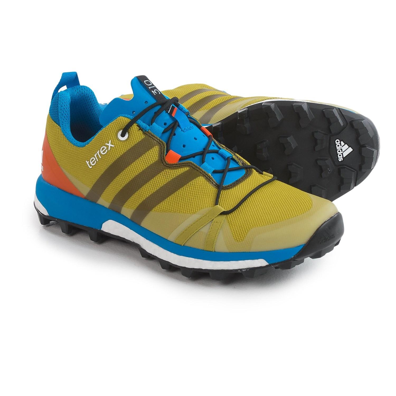 adidas Terrex Agravic Trail Running Shoes For Men in Bright YellowBlack
