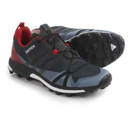 adidas Terrex Agravic Trail Running Shoes (For Men) in Dark Grey/Black/Power Red - Closeouts