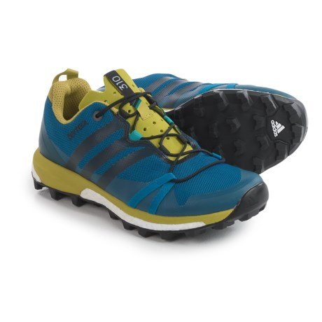 adidas Terrex Agravic Trail Running Shoes (For Men) in Tech Steel/Black/Unity Blue