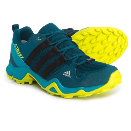adidas Terrex AX2R ClimaProof® Hiking Shoes - Waterproof (For Big and Little Girls) in Blue Night/Black/Semi Solar Yellow