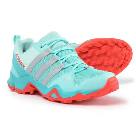 adidas Terrex AX2R ClimaProof® Hiking Shoes - Waterproof (For Big and Little Girls) in Vapour Blue/Grey Two/Easy Coral - Closeouts