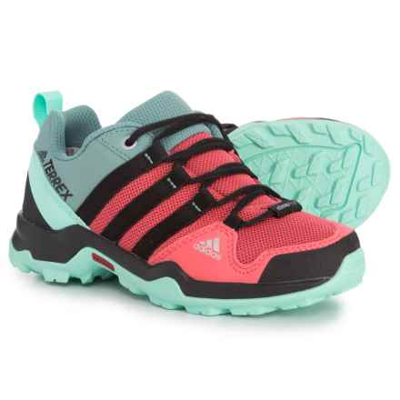 adidas Terrex AX2R ClimaProof® Hiking Shoes - Waterproof (For Little and Big Girls) in Tactile Pink/Black/Easy Green - Closeouts
