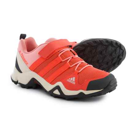 adidas Terrex AX2R Cloudfoam Hiking Shoes (For Big and Little Girls) in Easy Coral/Easy Coral/Tactile Rose - Closeouts