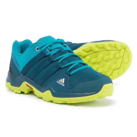 adidas Terrex AX2R Hiking Shoes (For Big and Little Kids) in Blue Night/Blue Night/Semi Solar Yellow - Closeouts