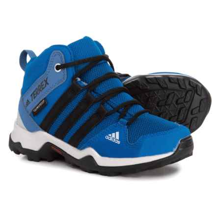 adidas Terrex AX2R Mid ClimaProof® Hiking Boots - Waterproof (For Little and Big Boys) in Royal/Black - Closeouts