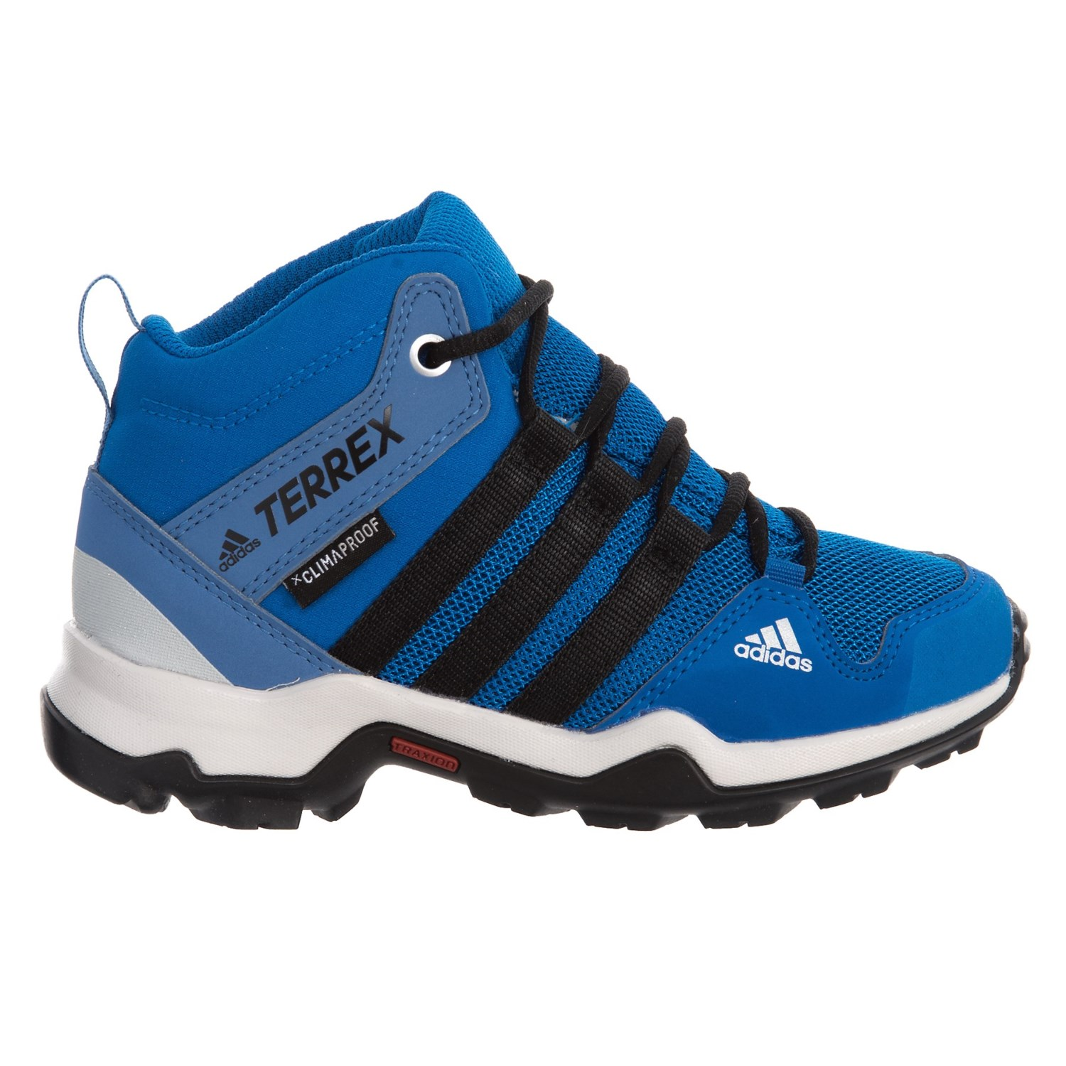 26eb4c8a240fe adidas Terrex AX2R Mid ClimaProof® Hiking Boots (For Little and Big ...