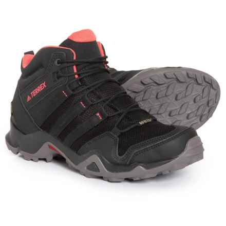 adidas Terrex AX2R Mid Gore-Tex® Hiking Boots - Waterproof (For Women) in Black/Black/Tactile Pink - Closeouts