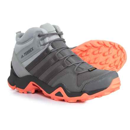 adidas Terrex AX2R Mid Gore-Tex® Hiking Boots - Waterproof (For Women) in Grey Two/Grey Three/Chalk Coral - Closeouts