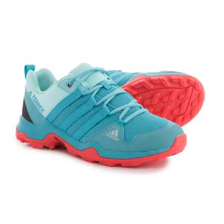 adidas Terrex AX2R Trail Shoes (For Big and Little Girls) in Vapour Blue/Vapour Blue/Easy Coral - Closeouts