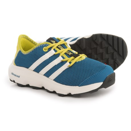 adidas Terrex ClimaCool® Voyager Shoes (For Big and Little Kids) in Core Blue/Chalk White/Unity Lime