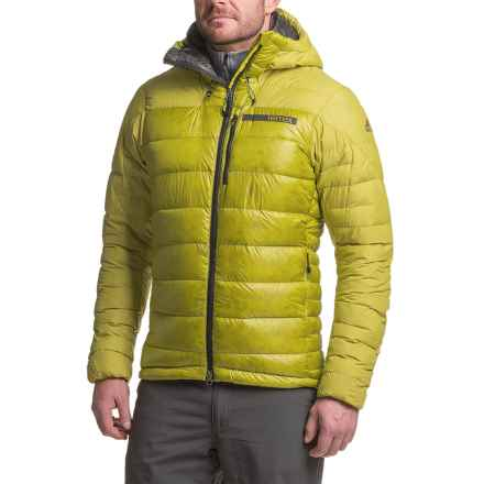 adidas Terrex ClimaHeat® Techrock Hooded Down Jacket - 800 Fill Power (For Men) in Unity Lime - Closeouts