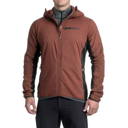 adidas Terrex ClimaHeat® Techrock Hooded Fleece Jacket (For Men) in Fox Brown - Closeouts