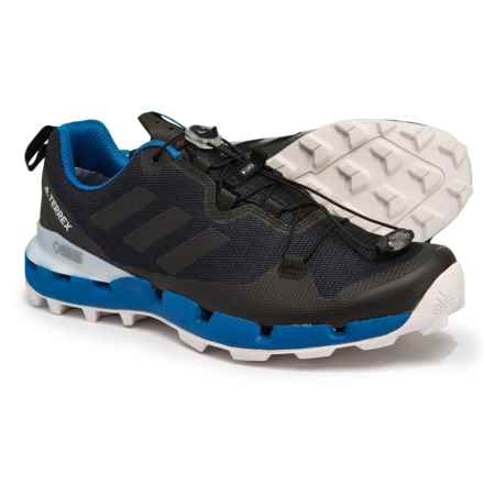 adidas Terrex Fast Gore-Tex® Surround Trail Running Shoes (For Men) in Legend Ink/Black/Blue Beauty