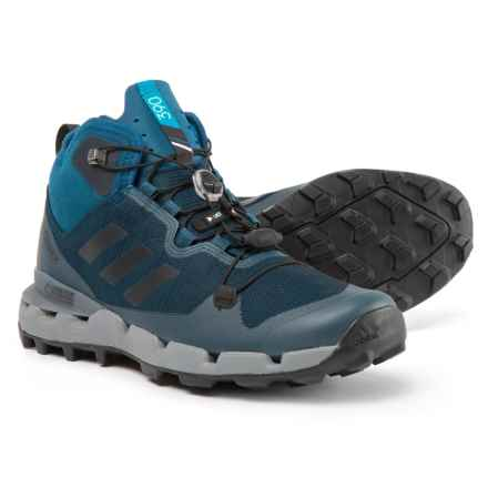 adidas Terrex Fast Gore-Tex® Surround Trail Running Shoes - Waterproof (For Men) in Blue Night/Black/Grey Three - Closeouts