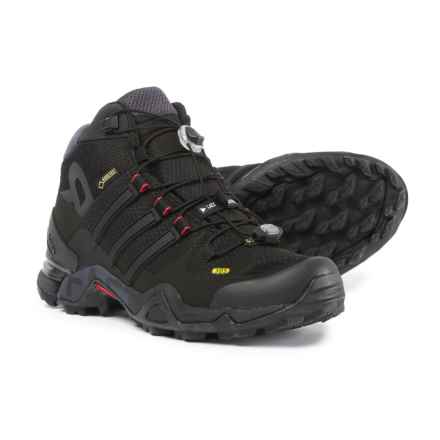 adidas Terrex Fast R Mid Gore-Tex® Hiking Boots - Waterproof (For Women) in Black/Dark Grey/Power Red - Closeouts