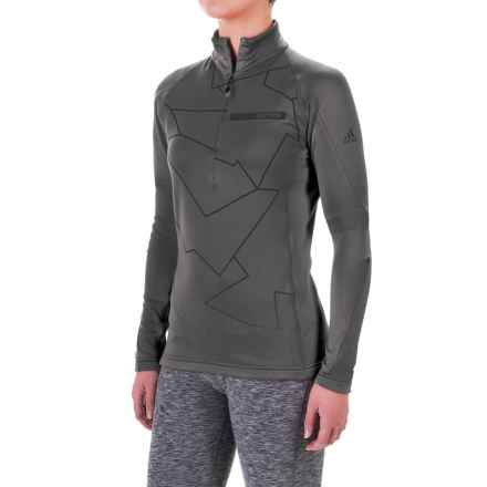 adidas Terrex Icesky 2 ClimaWarm® Shirt - Zip Neck, Long Sleeve (For Women) in Utility Black - Closeouts