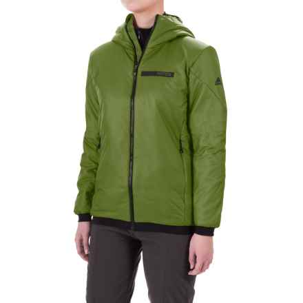 adidas Terrex Ndosphere 2 Flex PrimaLoft® Hooded Jacket - Insulated (For Women) in Craft Green - Closeouts