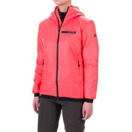 adidas Terrex Ndosphere 2 Flex PrimaLoft® Hooded Jacket - Insulated (For Women) in Super Blush - Closeouts