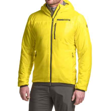adidas Terrex Ndosphere Flex Hooded Jacket II - PrimaLoft® Insulated (For Men) in Bright Yellow - Closeouts
