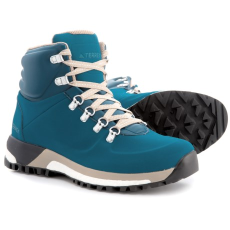 adidas Terrex Pathmaker ClimaWarm® Hiking Boots - Insulated (For Men) in Blue Night/Trace Khaki/White
