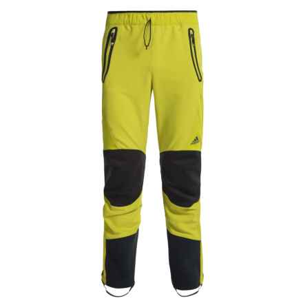 adidas Terrex Skyclimb Pants - Soft Shell (For Men) in Unity Lime - Closeouts