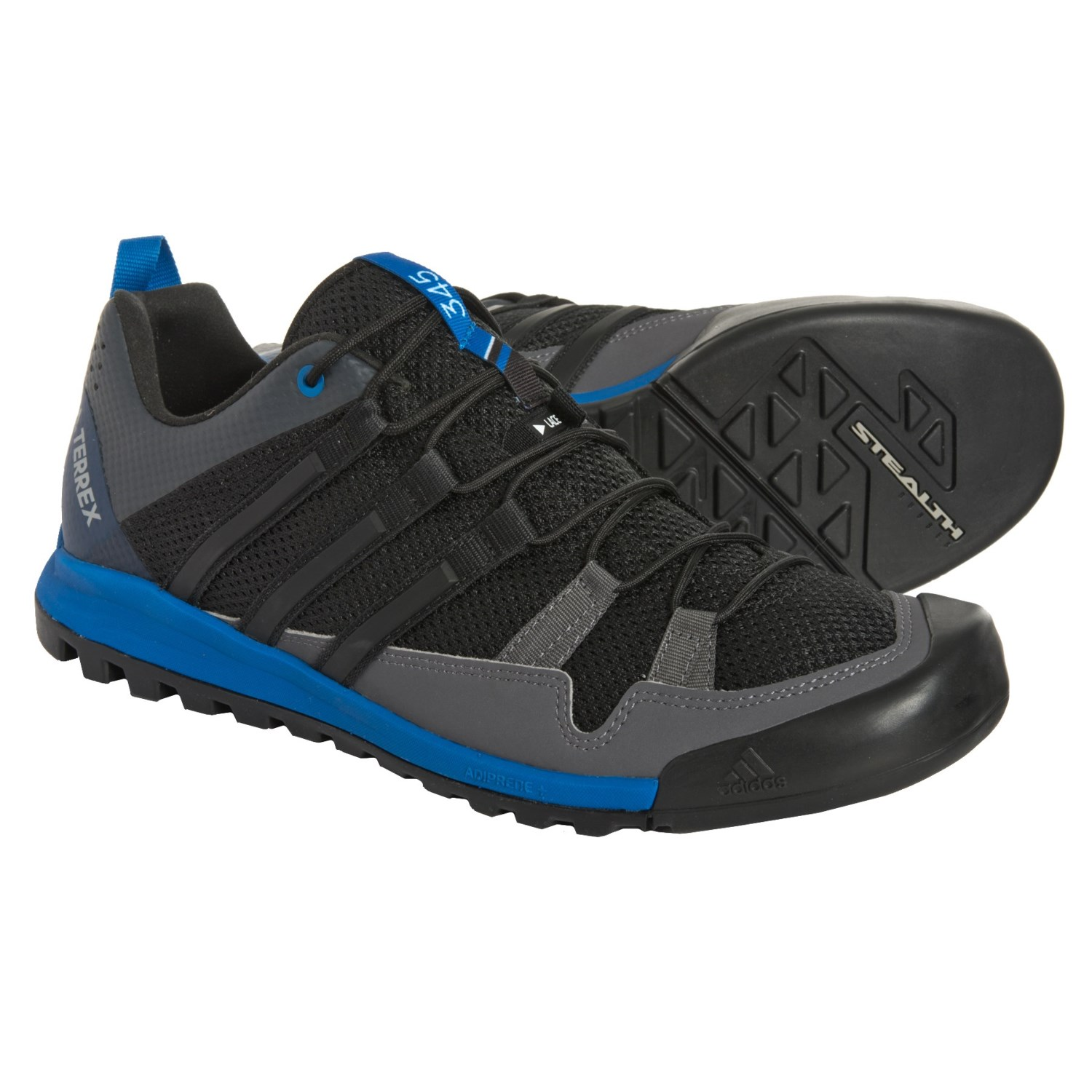 c08a5fac0ef28 adidas Terrex Solo Hiking Shoes (For Men) in Black Black Blue Beauty .