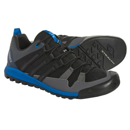 promo code 833dd 3d105 adidas Terrex Solo Hiking Shoes (For Men) in Black Black Blue Beauty
